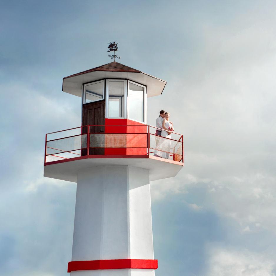 Свадебная фотосъемка на маяке
